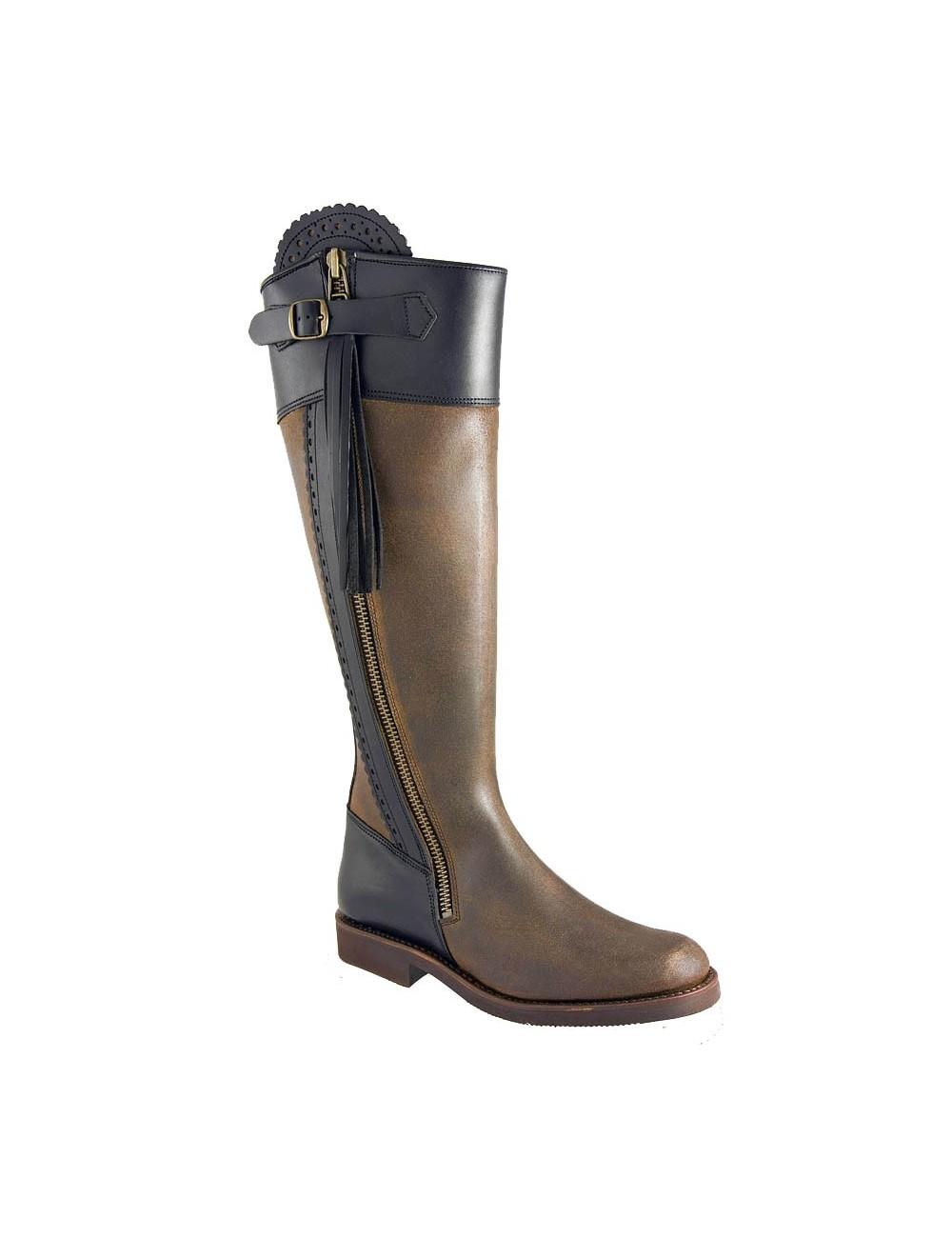 Bottes équitation cuir originales - Bottes équitation artisanales