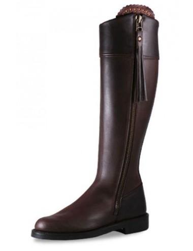 Bottes équitation cuir marron elegantes sur mesure