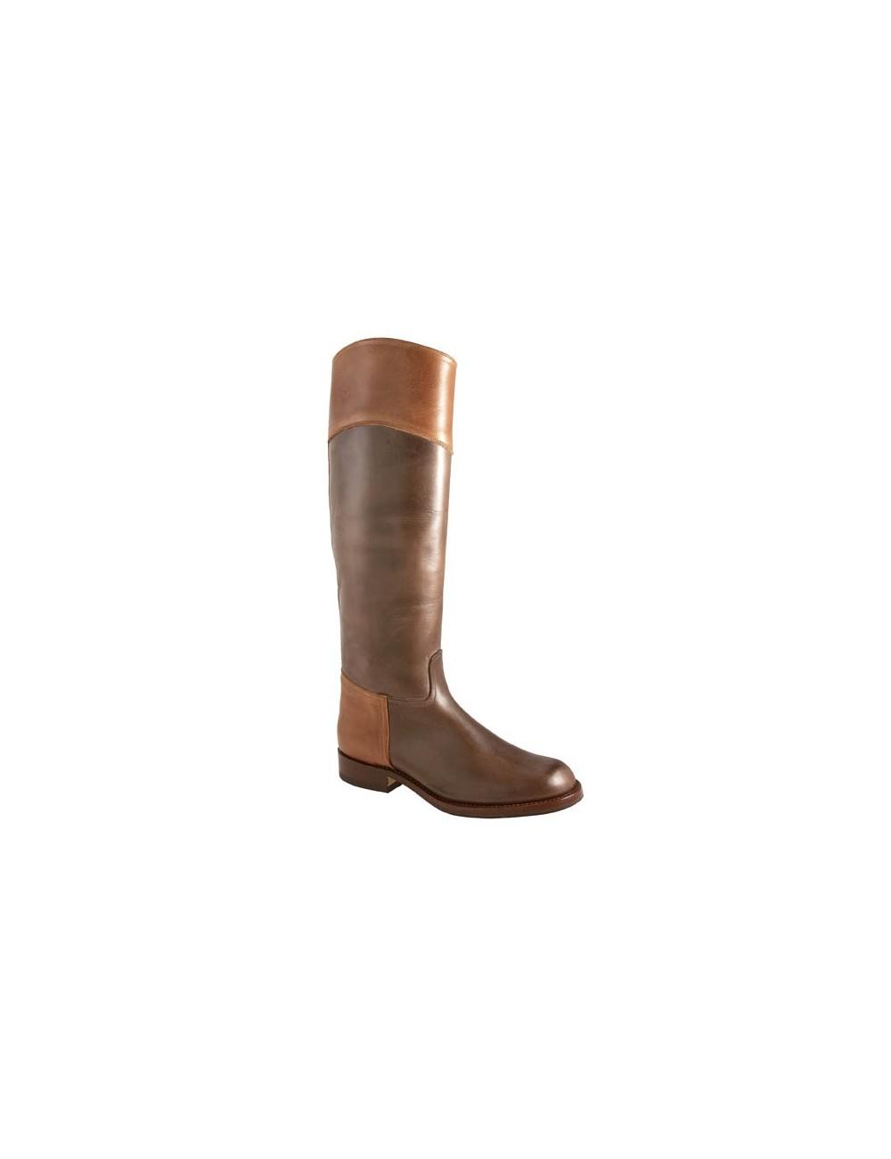 marron bicolore mesure cuir Bottes cavalières sur lFK1JTc