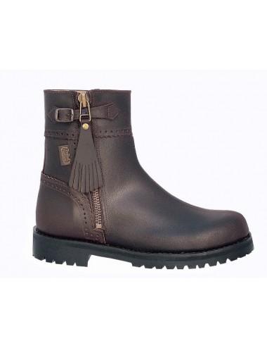 Bottes chasse sur mesure - Boots de chasse cuir marron sur mesure