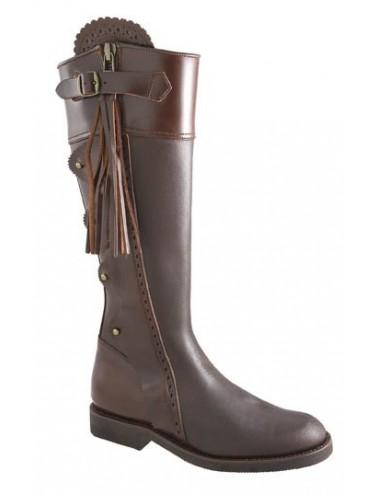 Bottes chasse sur mesure - Bottes de chasse cuir marron ibériques sur
