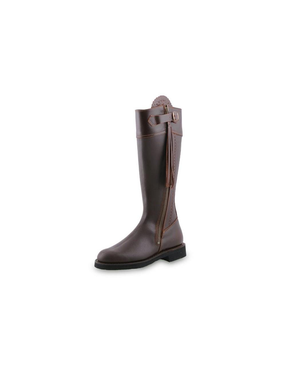 Bottes de chasse cuir marron imperméables | Bottes, Botte de