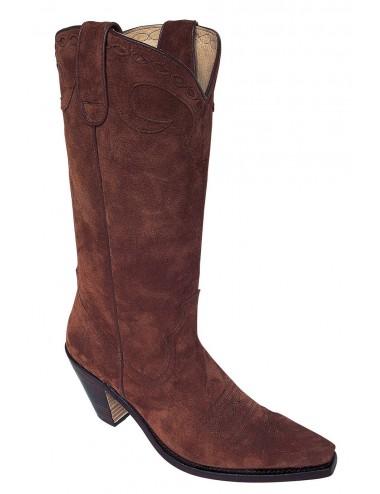 Santiags sur mesure - Santiags country femme cuir marron sur mesure