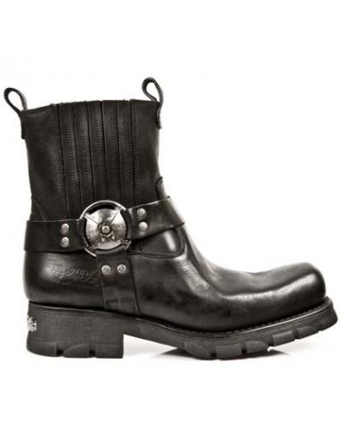 Boots motardes rock cuir - Boots motards