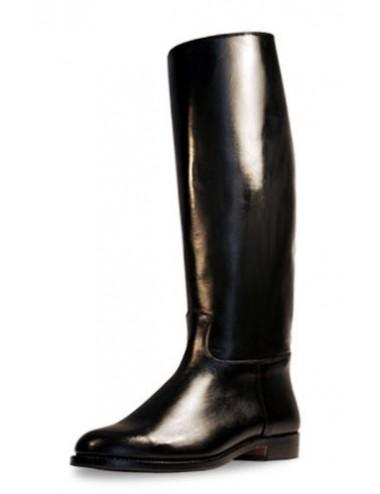 Bottes équitation cuir noir classiques sur mesure - Bottes équitation sur