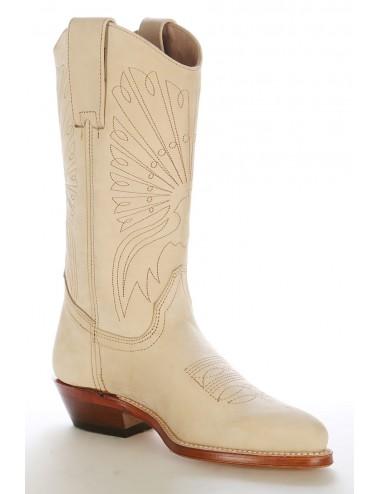 Bottes santiag country - Santiag beige en cuir
