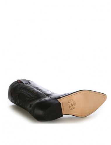 Bottes santiag country - Santiags mexicaines cuir noir
