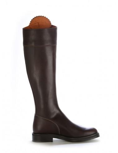 Bottes cavalières - Bottes cavalières cuir marron élégantes