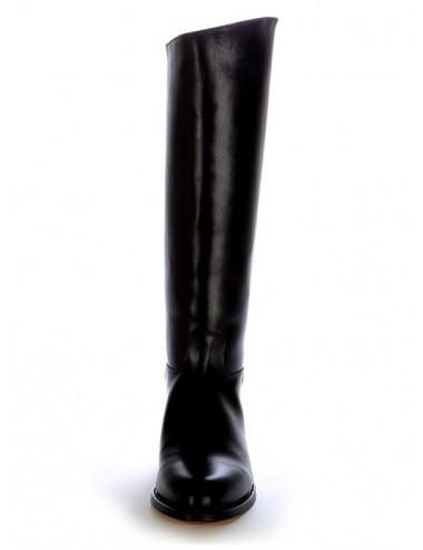 Bottes équitation noires en cuir - Bottes équitation artisanales