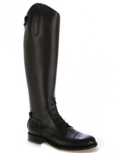 Bottes équitation - Bottes équitation cuir noir à lacets