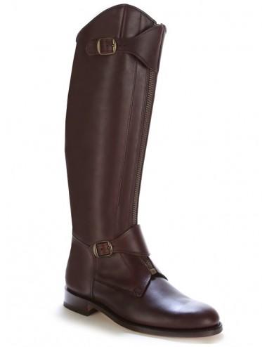 Bottes équitation - Bottes équitation cuir marron à brides