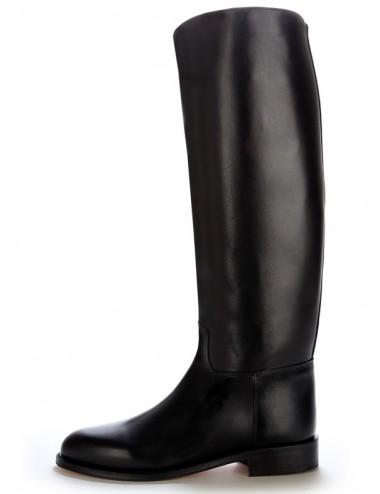Bottes cavalières noires en cuir sur mesure - Bottes équitation sur mesure