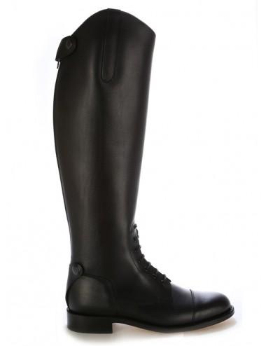 Bottes equitation cuir noir à lacets sur mesure