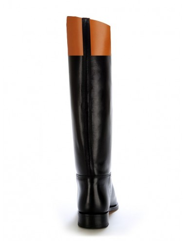 Bottes équitation cuir bicolores sur mesure - Bottes équitation sur mesure