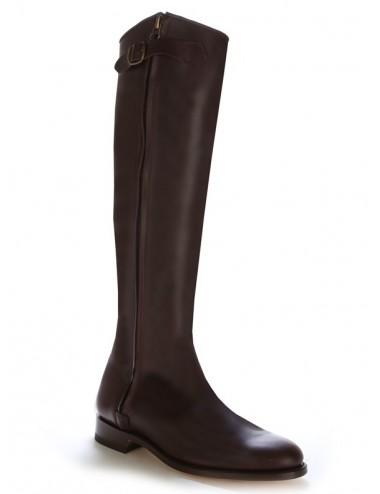 Bottes équitation - Bottes cavalières cuir marron élégantes