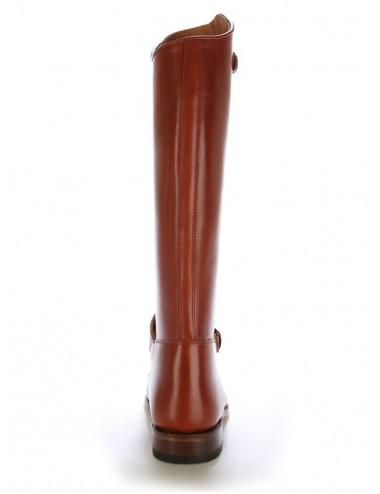 Bottes équitation / polo cuir marron cuivré sur mesure - Bottes équitation