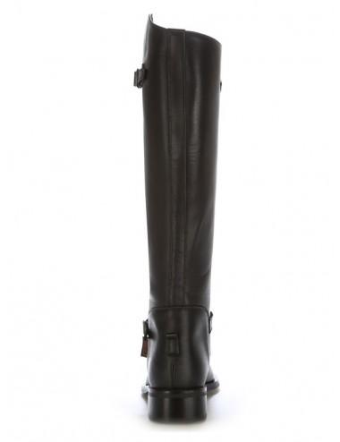 Bottes équitation sur mesure - Bottes équitation cuir noir sur mesure à