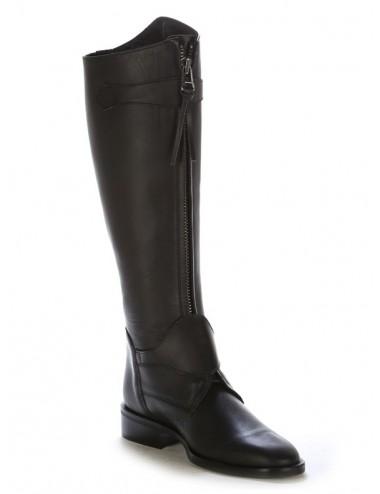 Bottes équitation - Bottes équitation cuir noir à brides