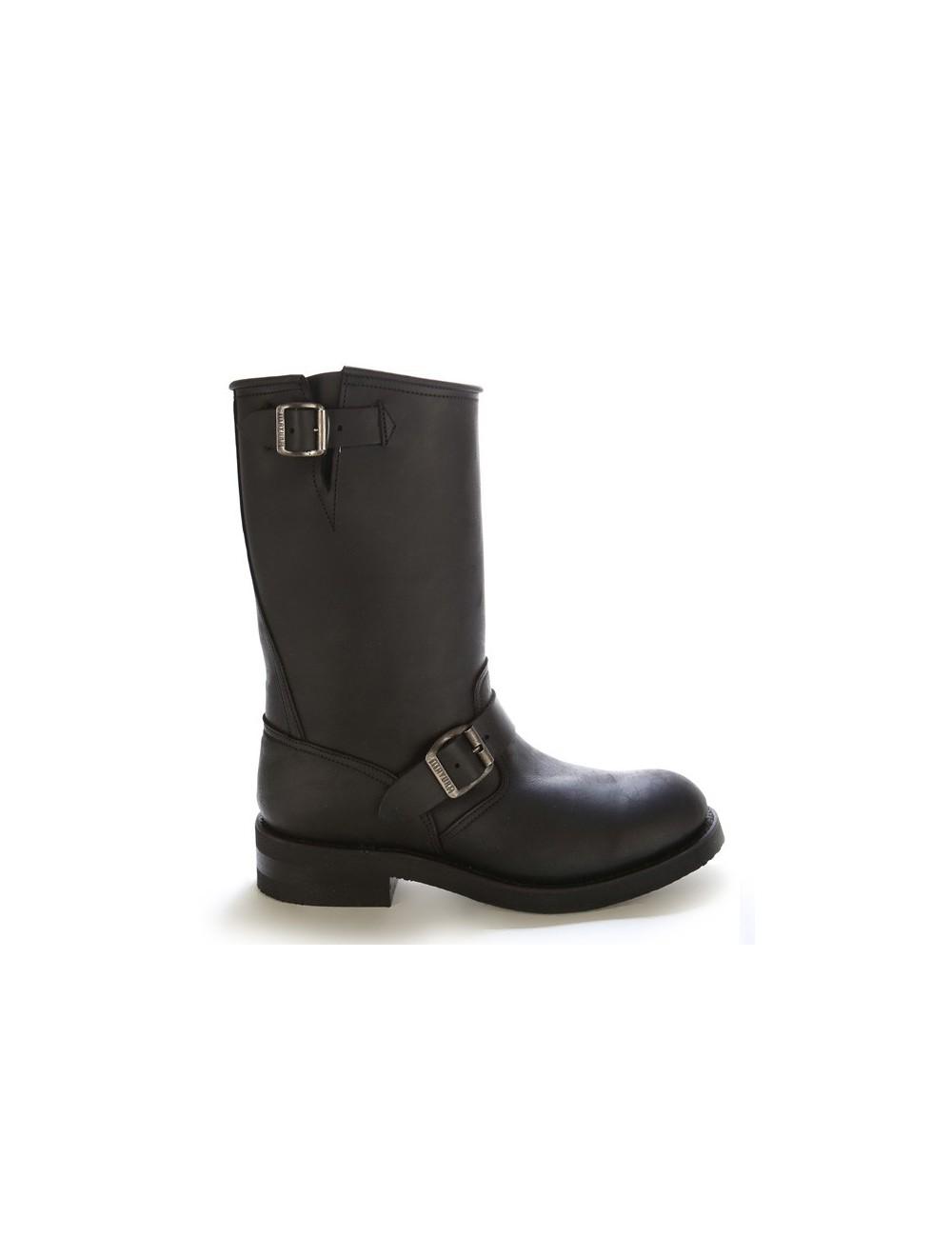 Chaussures noir cuir moto bout coqué lcTuKJF135