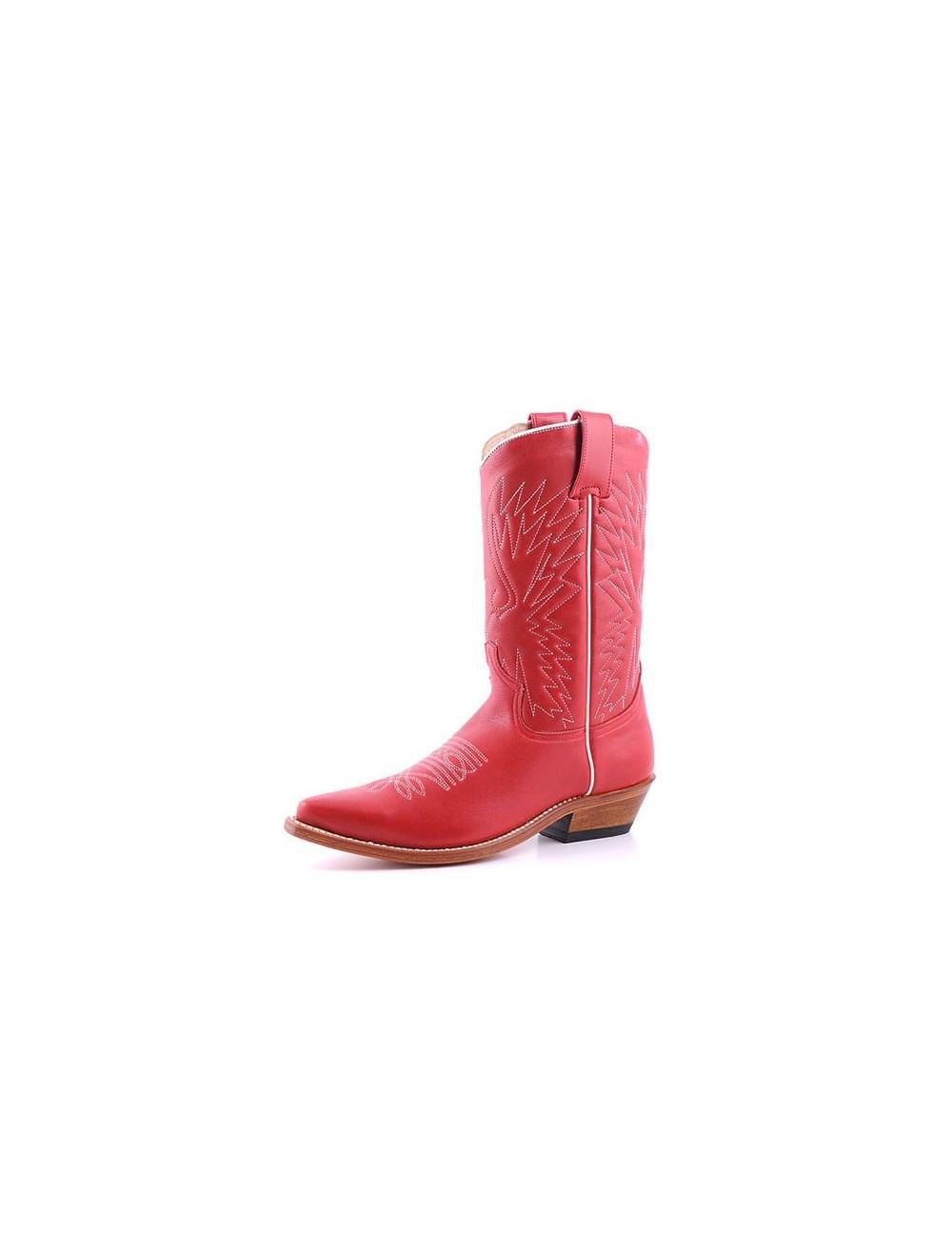 Santiags sur mesure - Sur mesure - Santiags femme cuir rouge