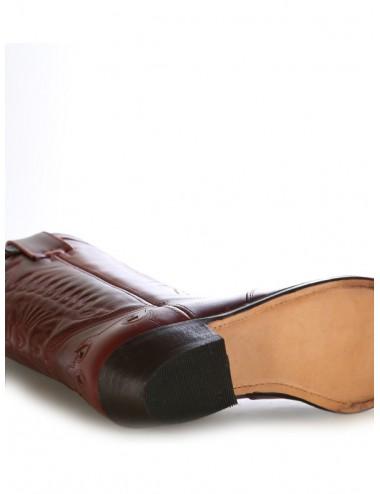 Santiags sur mesure - Sur mesure - Santiags mexicaines cuir bordeaux