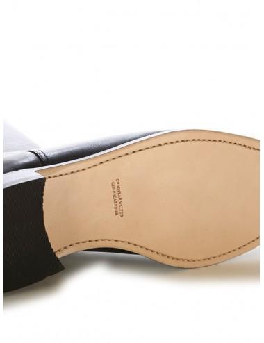 Bottes equitation cuir noir sur mesure coupe anatomique - Bottes
