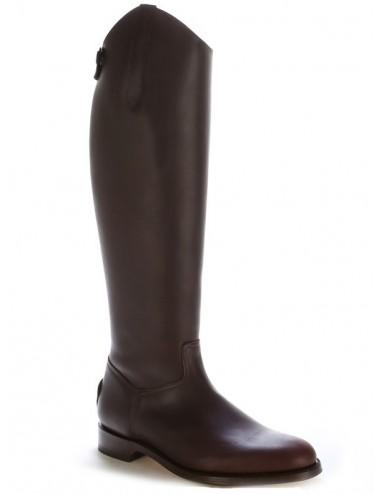 Bottes equitation cuir marron sur mesure coupe anatomique - Bottes
