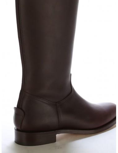 Bottes equitation cuir marron sur mesure coupe anatomique