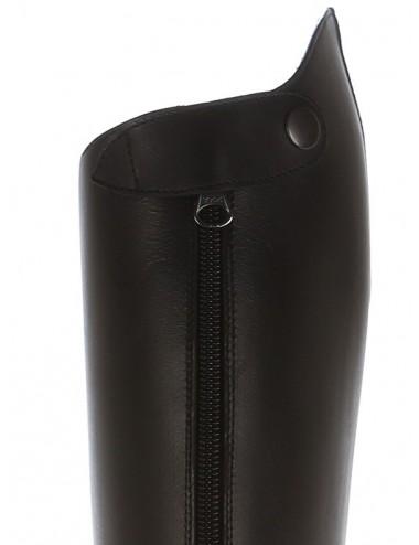 Bottes équitation cuir noir coupe anatomique