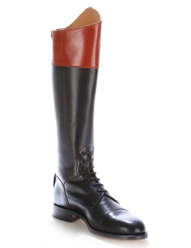 équitation lacets Bottes à bicolore cuir 5AL34Rj