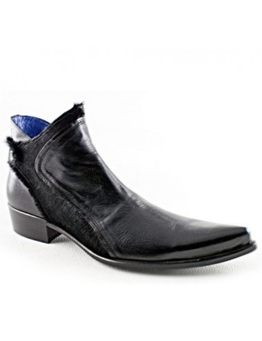 Bottines homme - Bottines homme cuir noir pointues