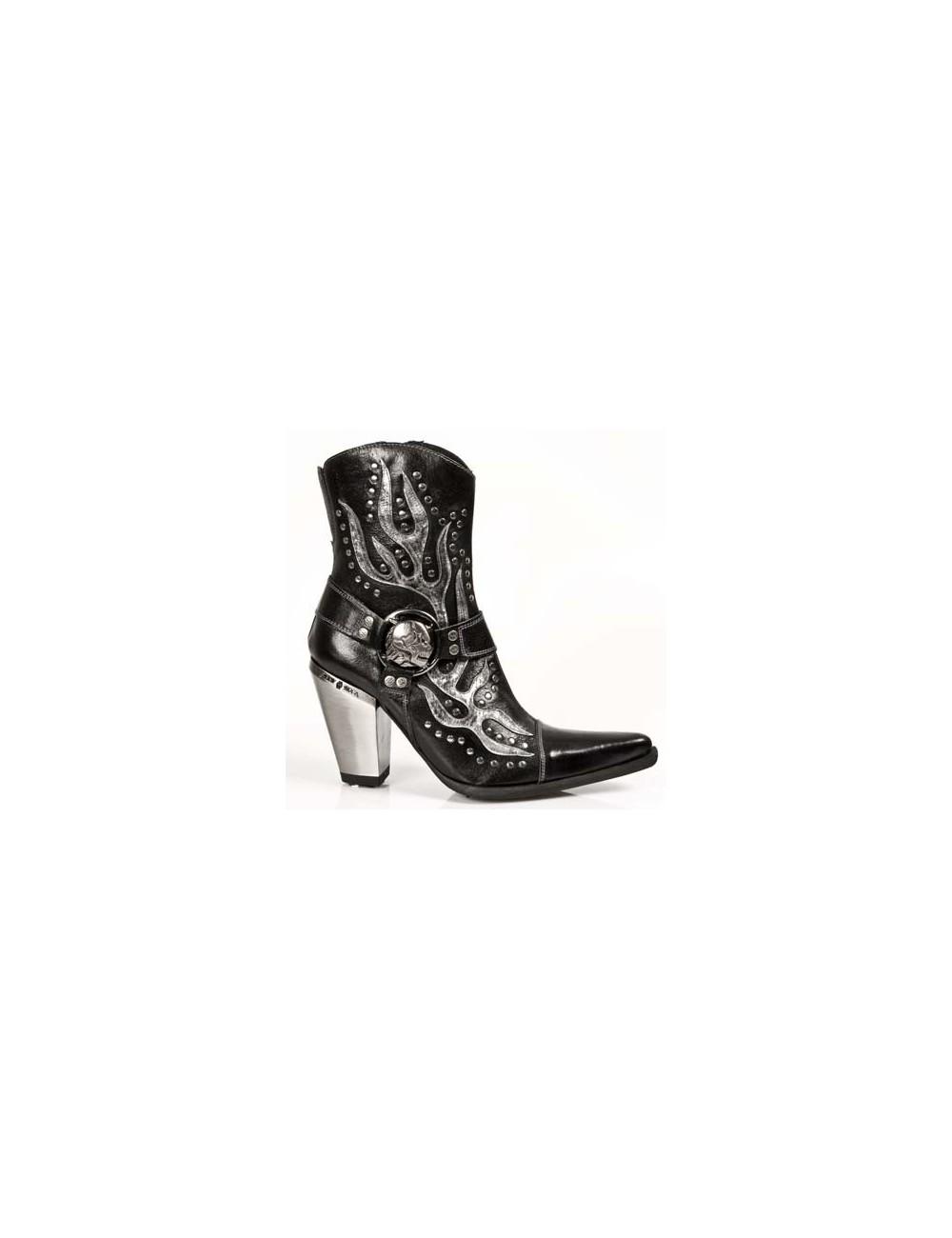 Bottines cowboy - Bottines santiags rock cuir à talons