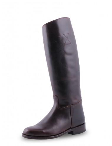 Bottes équitation - Bottes équitation marron en cuir