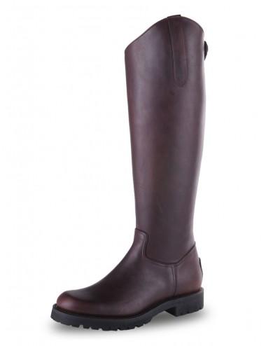 Bottes équitation cuir marron semelle crantée - Bottes équitation