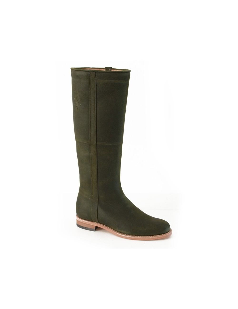 Bottes cavalières - Bottes camarguaises cuir vert kaki