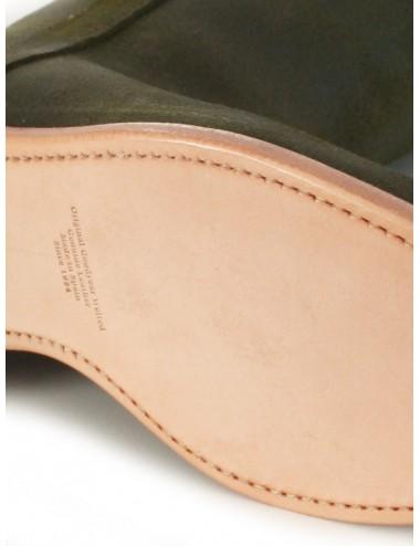 Bottes camarguaises cuir vert kaki