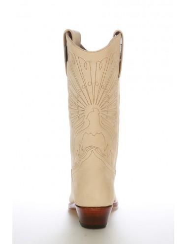 Santiags mexicaines cuir beige suédé sur mesure - Santiags sur mesure