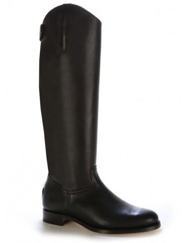 Bottes homme grande taille - Bottes équitation cuir noir Grande taille