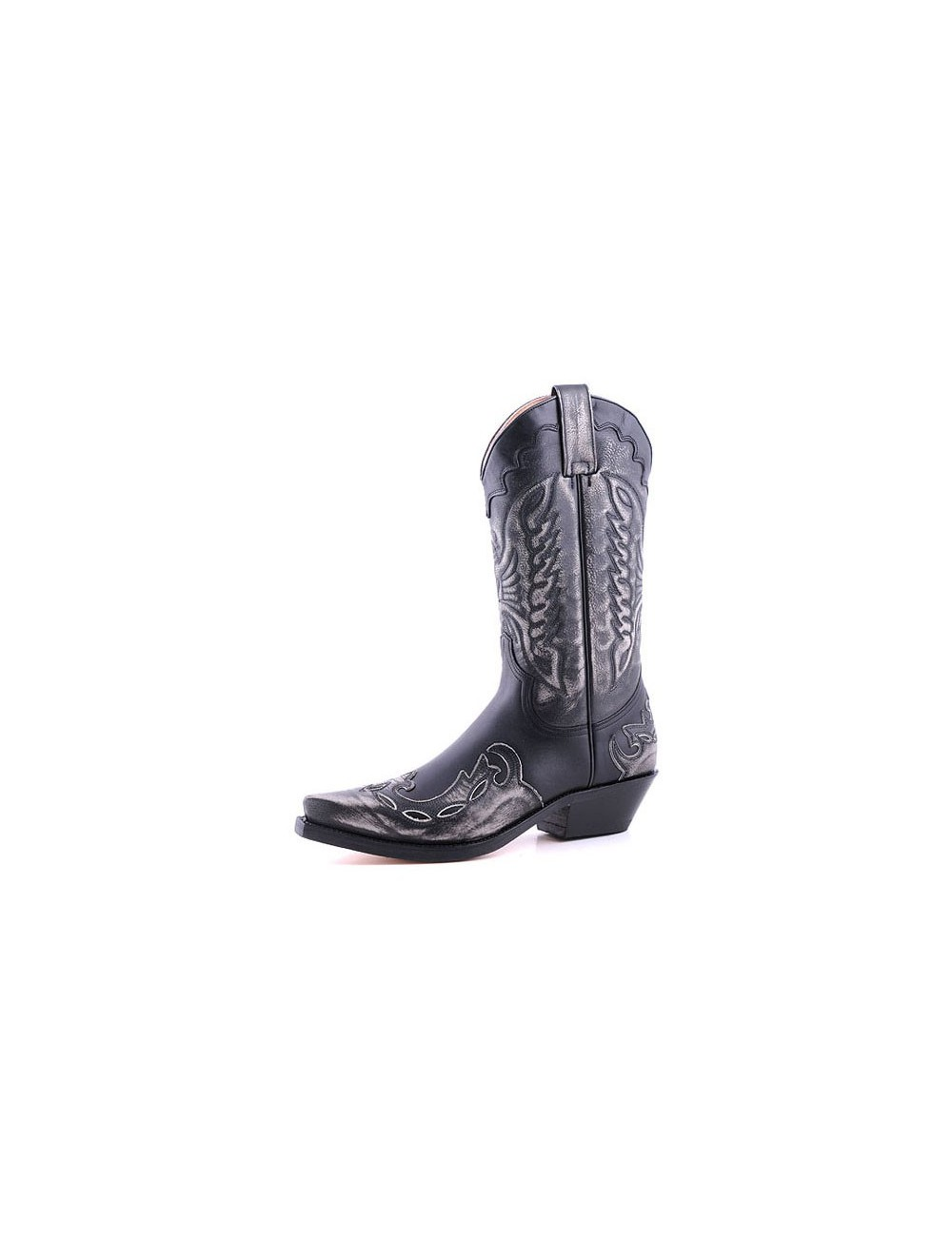 Bottes homme grande taille - Santiags mexicaines grande taille cuir noir