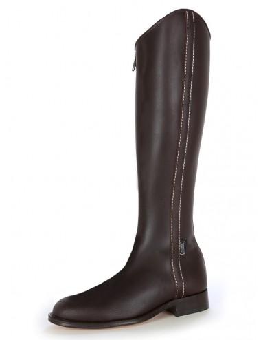 Bottes équitation - Bottes de dressage en cuir marron