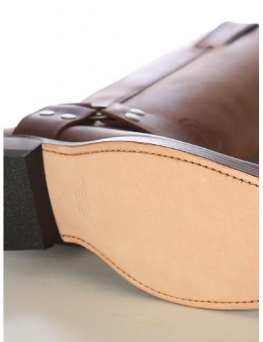 Bottes sudistes cuir bout carré - Noir ou Marron