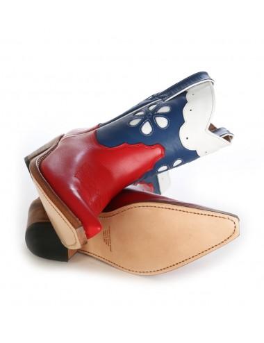 Bottines country femme en cuir originales - Bottines cowboy artisanales