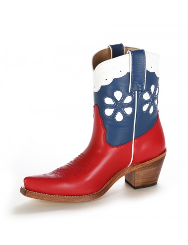 Bottines country femme en cuir originales - Bottines cowboy artisanales