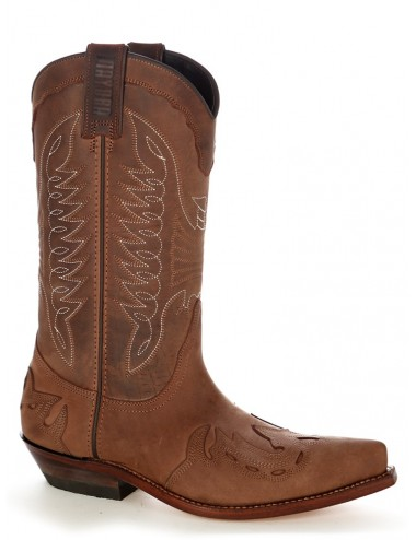 Bottes santiag country - Santiags mexicaines cuir huilé