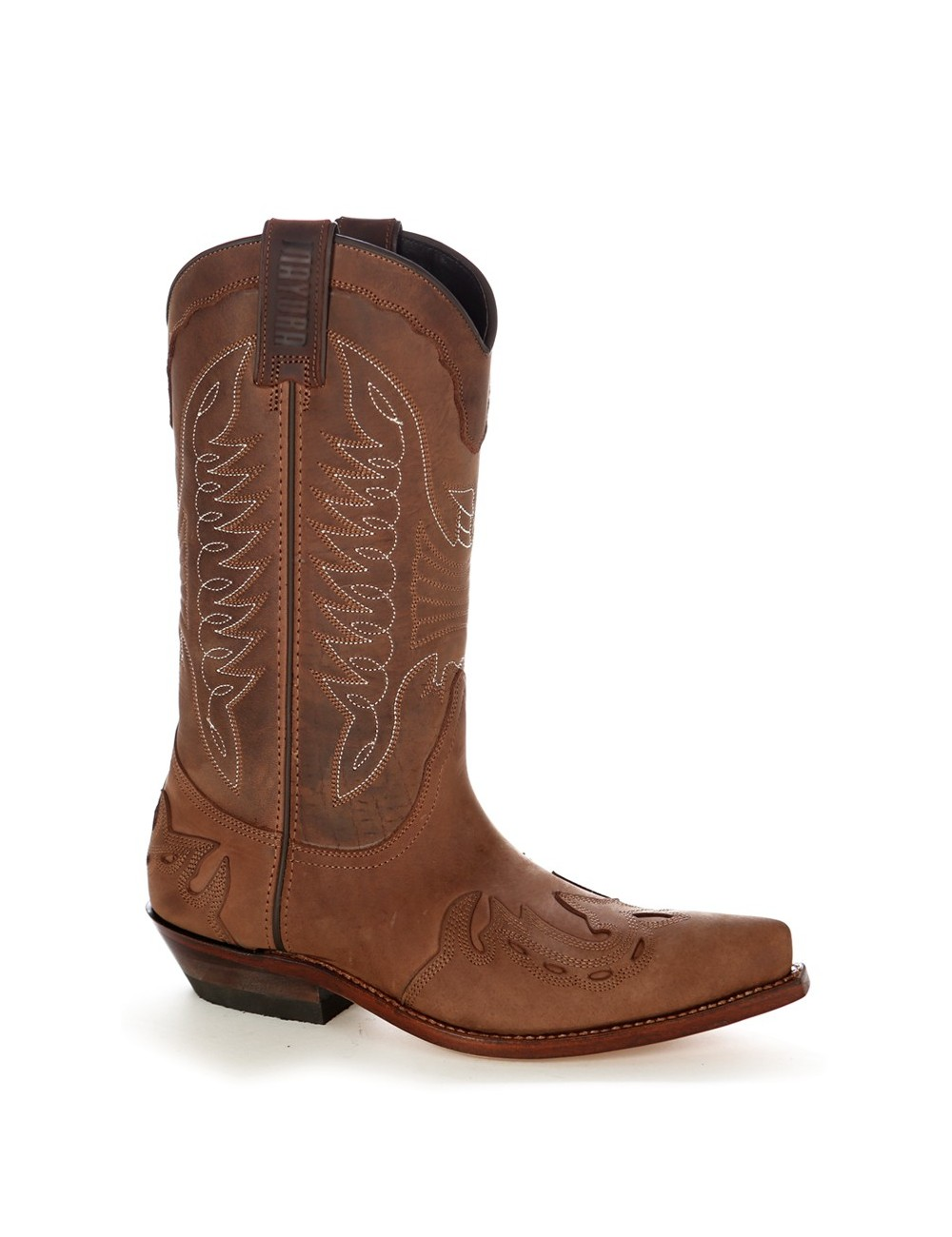 Santiags mexicaines cuir huilé - Bottes santiags country artisanales