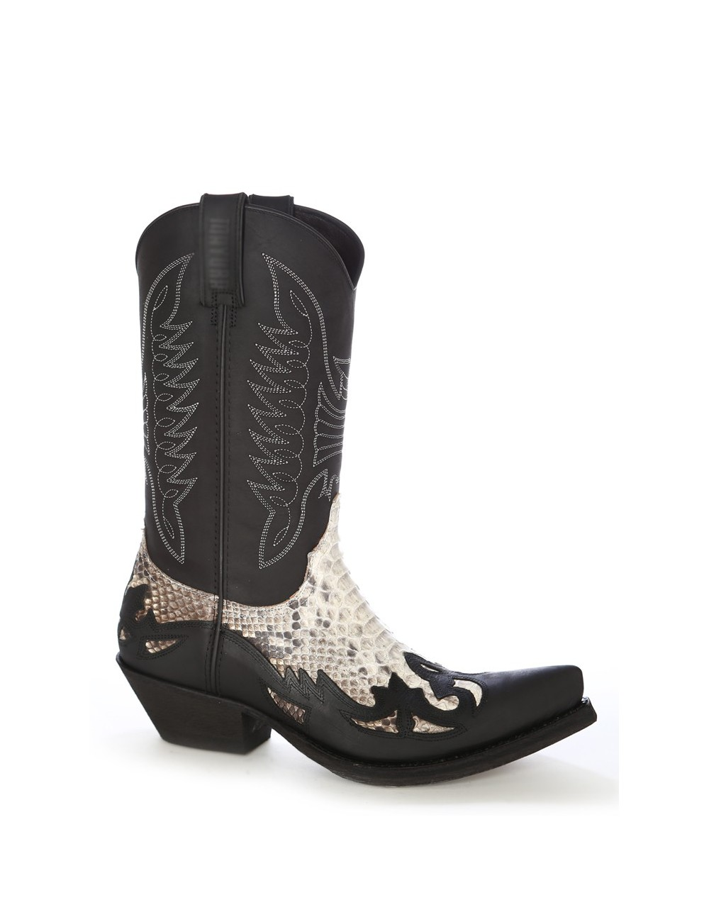 Bottes santiag country - Santiags mexicaines cuir et serpent naturel