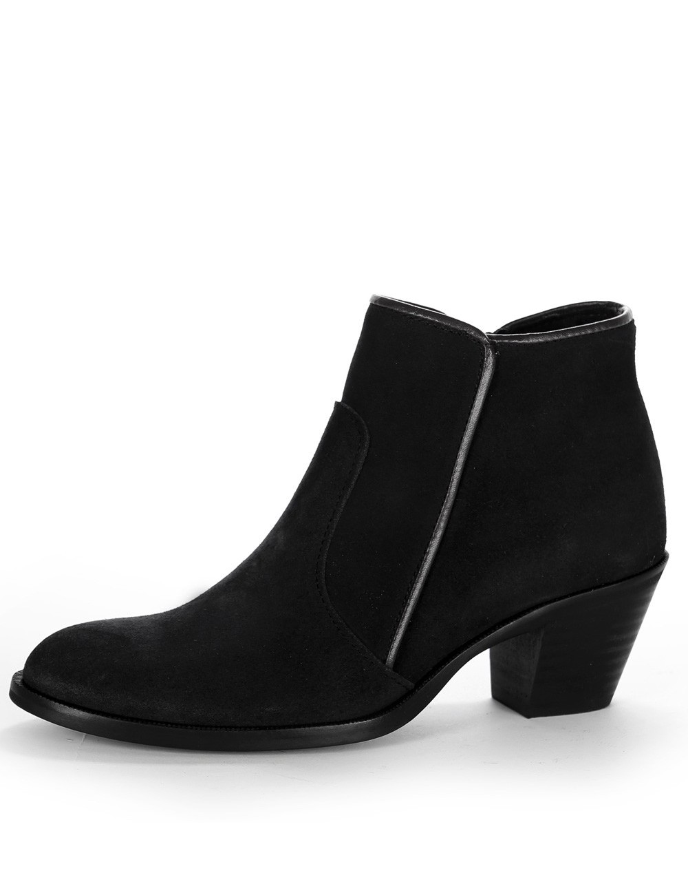 Bottines femme daim noir - bottines femmes artisanales