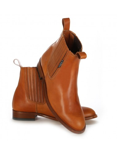 Bottines homme - Bottines homme camel en cuir