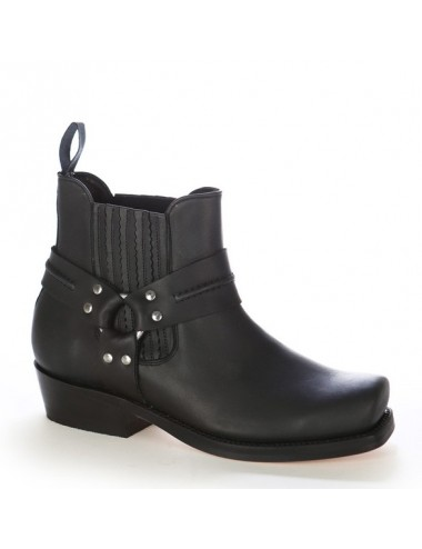 Bottes homme grande taille - Boots western cuir grandes tailles