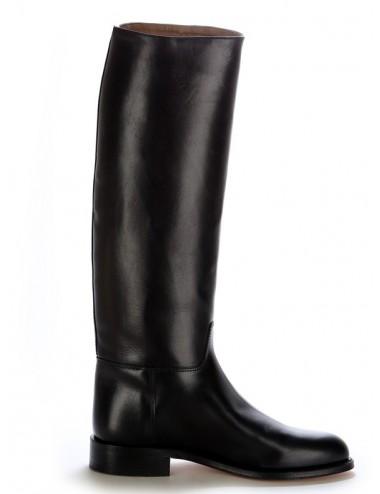 Bottes équitation sur mesure - Bottes équitation noires en cuir demie